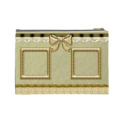The Little Gold Cosmetic Bag (large) By Deborah   Cosmetic Bag (large)   6jbwmcowafbd   Www Artscow Com Back