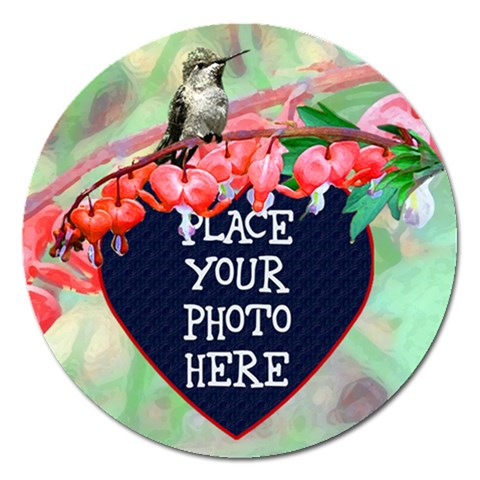 Bleeding Heart Round 5 Inch Magnet By Chere s Creations   Magnet 5  (round)   4xlt6ggg08hl   Www Artscow Com Front