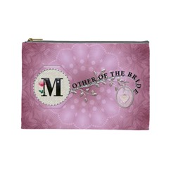 Mother Of The Bride Large Cosmetic Bag By Lil    Cosmetic Bag (large)   Jp5jcbtyjq7u   Www Artscow Com Front