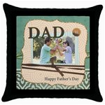 dad - Throw Pillow Case (Black)