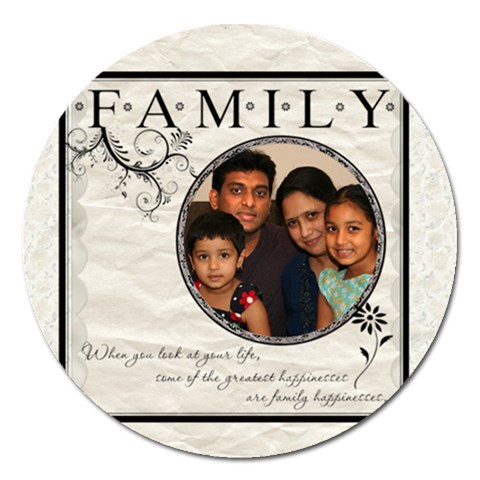 Family2 By Anitha   Magnet 5  (round)   Mpo59rz3i3l7   Www Artscow Com Front