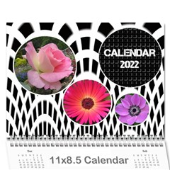 Modern Black And White Calendar 2017 (any Year) By Deborah   Wall Calendar 11  X 8 5  (12 Months)   K5nouios7zmi   Www Artscow Com Cover