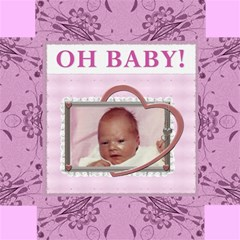 Oh Baby Girl 12  Photo Storage Stool By Lil    Storage Stool 12    Nzagnlks7gkj   Www Artscow Com Top