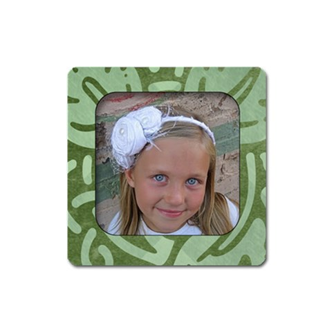 Green Summer Magnet By Amanda Bunn   Magnet (square)   Axcjdbk1wbdi   Www Artscow Com Front