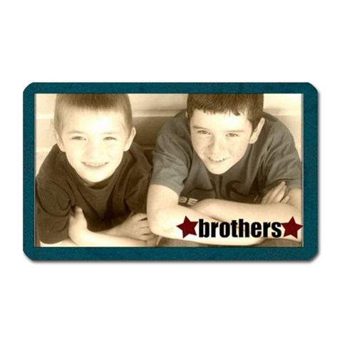 Brothers Magnet By Amanda Bunn   Magnet (rectangular)   Oa7ecsyb4b52   Www Artscow Com Front