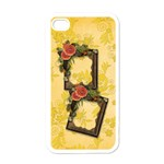 roses i-phone case - Apple iPhone 4 Case (White)