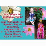 Abby s 3rd Birthday Invite - 5  x 7  Photo Cards