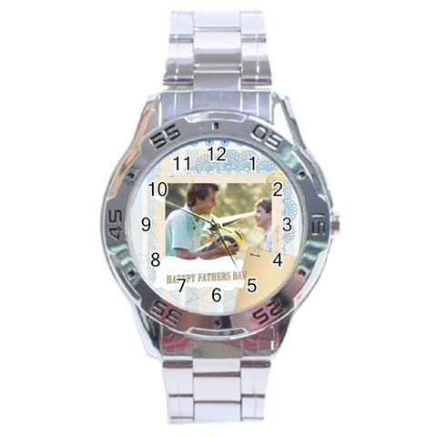 Fathers Day By Joely   Stainless Steel Analogue Watch   Zm7owvtyvvyn   Www Artscow Com Front