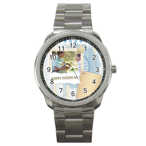 Fathers Day By Joely   Sport Metal Watch   Luhzphtngfhr   Www Artscow Com Front