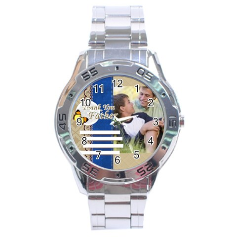 Fathers Day By Joely   Stainless Steel Analogue Watch   A6k5t8uculvx   Www Artscow Com Front