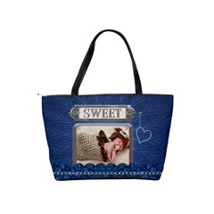 Sweet Blue Classic Shoulder Handbag By Lil    Classic Shoulder Handbag   Sx34sy4roqt3   Www Artscow Com Back