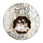Family Single Sided Filagree Round Ornament - Ornament (Round Filigree)
