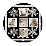 Grandbabies Snowflake Double Sided Filigree Ornament - Round Filigree Ornament (Two Sides)