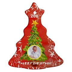 Merry Christmas 2011 Tree Ornament Double Sided By Catvinnat   Christmas Tree Ornament (two Sides)   Jk5y5zgag3x2   Www Artscow Com Front
