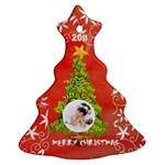 Merry Christmas 2011 Single sided tree ornament - Ornament (Christmas Tree)