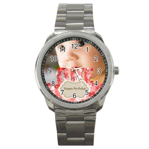 Baby Birthday By Joely   Sport Metal Watch   Vlisfjddts9d   Www Artscow Com Front