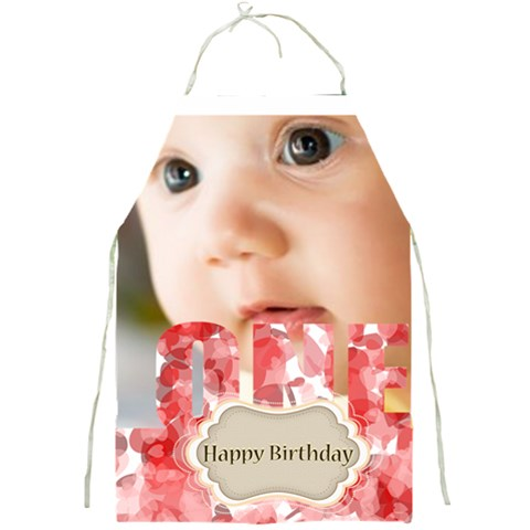 Birthday By Joely   Full Print Apron   Q5qrr8lml8wd   Www Artscow Com Front