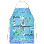 Spring flower floral blue daisy apron - Full Print Apron