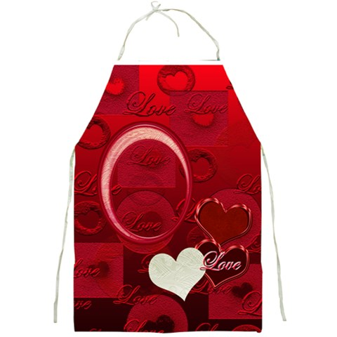 I Heart You Red Love Apron By Ellan   Full Print Apron   Zm836tbmn6jp   Www Artscow Com Front