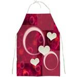 I Heart You hot pink apron - Full Print Apron