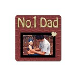 No.1 Dad Magnet - Magnet (Square)