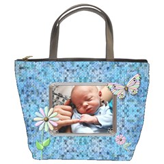 Special Blue Bucket Bag By Lil    Bucket Bag   Apsqk1nyich8   Www Artscow Com Front