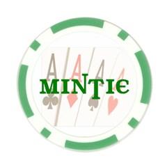 Mintie Poker Night Chip Green By Jenny   Poker Chip Card Guard   N7si5ynslk5i   Www Artscow Com Front