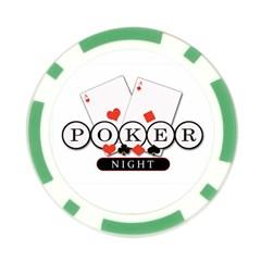 Mintie Poker Night Chip Green By Jenny   Poker Chip Card Guard   N7si5ynslk5i   Www Artscow Com Back