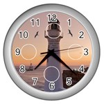 Castle Point Light house clock silver - Wall Clock (Silver)