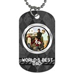 Gray Harlequin Dog Tag Photo Template - Dog Tag (Two Sides)