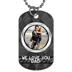 Gray Harlequin Dog Tag Photo Template By Angela   Dog Tag (two Sides)   Q6zvotskw9co   Www Artscow Com Back