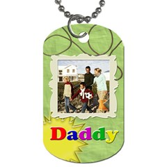 Fun Green And Colorful Letters Dad Or Father s Day Photo Dog Tags By Angela   Dog Tag (two Sides)   67z1ycwc9xz6   Www Artscow Com Back