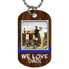 Wood Look Dogtag With Photo And Custom Text By Angela   Dog Tag (two Sides)   Ozlqhsbrfm0j   Www Artscow Com Front
