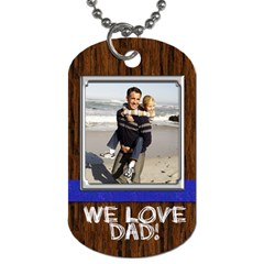 Wood Look Dogtag With Photo And Custom Text By Angela   Dog Tag (two Sides)   Ozlqhsbrfm0j   Www Artscow Com Back
