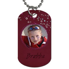 Burb And Sis By Heather   Dog Tag (two Sides)   6o7wxcq375cf   Www Artscow Com Back