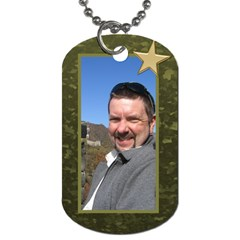 Military Love (2 Sided) Dog Tag By Deborah   Dog Tag (two Sides)   Qobe1ka9maka   Www Artscow Com Front