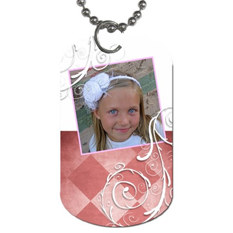 Girl Tag By Amanda Bunn   Dog Tag (one Side)   Uhukd1f5vhqi   Www Artscow Com Front