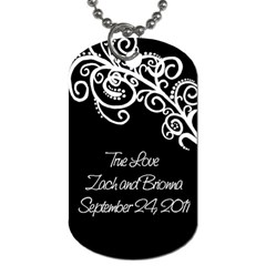Wedding Bride By Amanda Bunn   Dog Tag (two Sides)   6e6v048d2gqb   Www Artscow Com Back