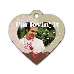 Love By Joely   Dog Tag Heart (two Sides)   B6k18j4aw9yf   Www Artscow Com Front