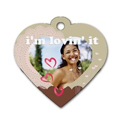 Love By Joely   Dog Tag Heart (two Sides)   B6k18j4aw9yf   Www Artscow Com Back