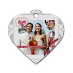 wedding  - Dog Tag Heart (Two Sides)