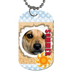Summer By Joely   Dog Tag (two Sides)   Lu26npse5hpi   Www Artscow Com Front