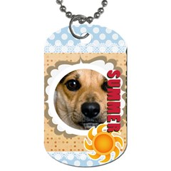 Summer By Joely   Dog Tag (two Sides)   Lu26npse5hpi   Www Artscow Com Back