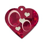 I Heart You hot pink heart dog tag - Dog Tag Heart (One Side)