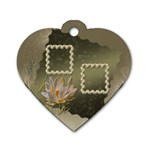 Neutral Shiny heart dog tag - Dog Tag Heart (One Side)