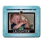 Laughter Large Blue Mousepad - Large Mousepad