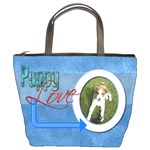 Puppy Love Pawprints in my Heart Bucket Bag