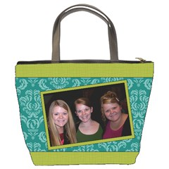 Turquoise & Lime Bucket Bag By Klh   Bucket Bag   O94wl66e1a7c   Www Artscow Com Back