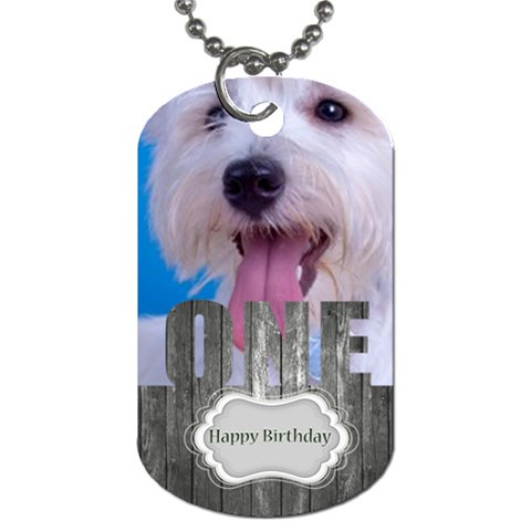 Happy Birthday By Joely   Dog Tag (one Side)   2asv6f1v4jc8   Www Artscow Com Front