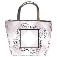 Swirl Frame Bucket Bag By Amanda Bunn   Bucket Bag   K6dwdnrshe2b   Www Artscow Com Front